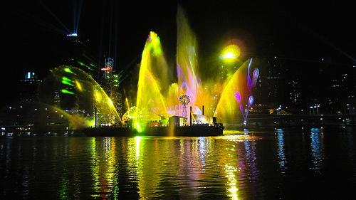 Brisbane festival Lazer show
