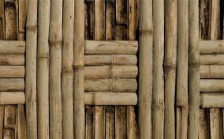 Bamboo wood reeds in a basic weaving pattern.