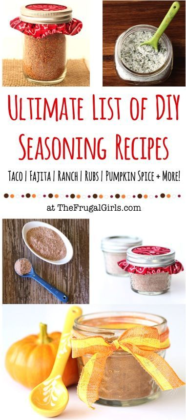 DIY Seasoning Recipes! ~ from TheFrugalGirls.com ~ enjoy your favorite spices and seasonings at home for a fraction of the cost!  {Taco, Fajita, Ranch, Rubs, Pumpkin Spice + more!} #recipe #thefrugalgirls