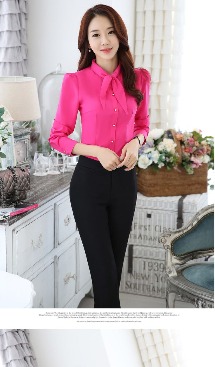 Aliexpress.com: Comprar 2016 Primavera Otoño femeninos Arco elegante camisa de manga larga blusa de la gasa más el tamaño 3XL ropa de trabajo carrera OL de las mujeres oficina de Las Señoras tops de blusa de las señoras fiable proveedores en NAI HUI Business Suit Flagship Store