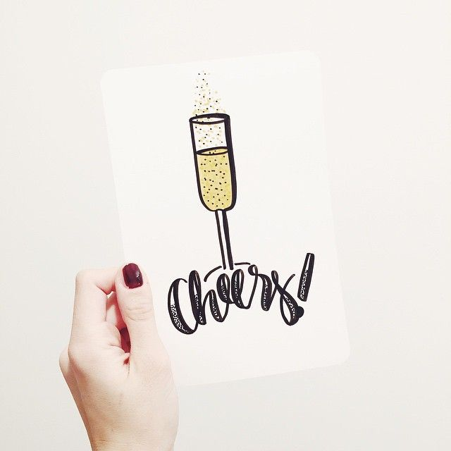 Cheers, because it's wednesday!(and because I needed to try those lovely golden Neuland markers ) #lettering #handlettering #neuland #fineone #artmarker #letteringtherapy #cheers