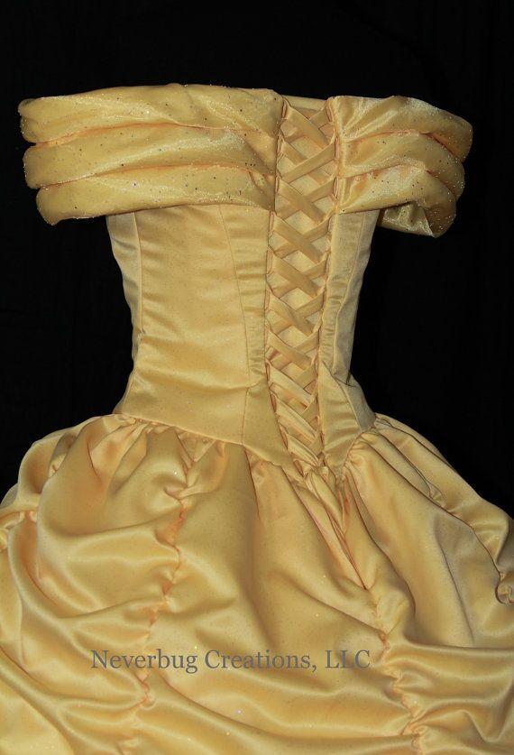 Belleza y la bestia bella desfile vestido traje de encargo