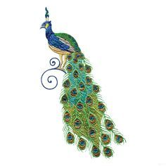 Free Embroidery Software Jef | Swnpa140 Peacock Embroidery Design