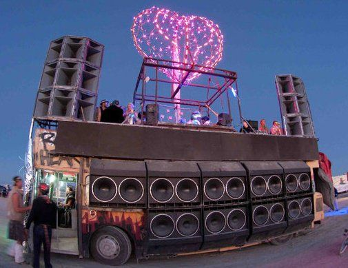 Robot Heart - Another one of my favorite Art Cars that sports one of the biggest Mobile Sound Systems known to man.