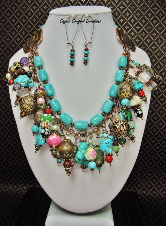 GYPSY COWGIRL NECKLACE / Multi Color by CayaCowgirlCreations