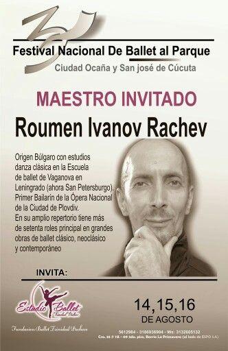Maestro invitado al III Festival Nacional de Ballet al Parque Ciudad de Ocaña
