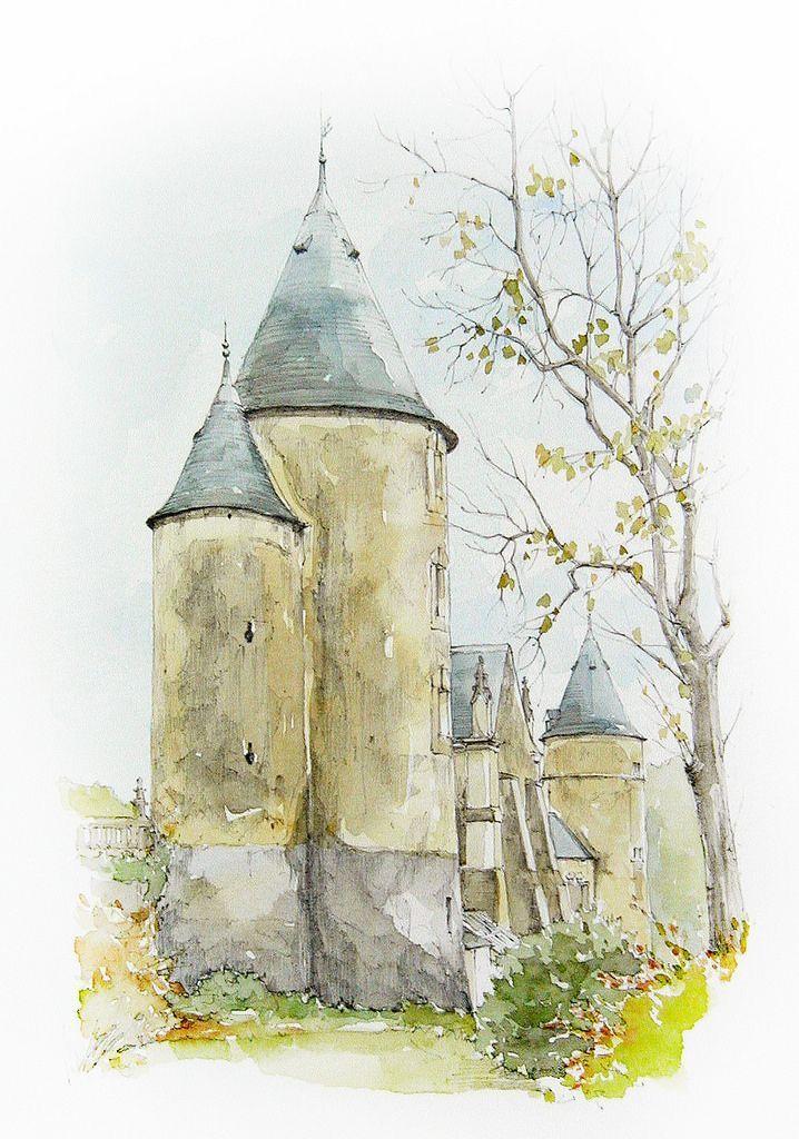 Linda Vanysacker Coquelicots Peinture Peinture Aquarelle Et