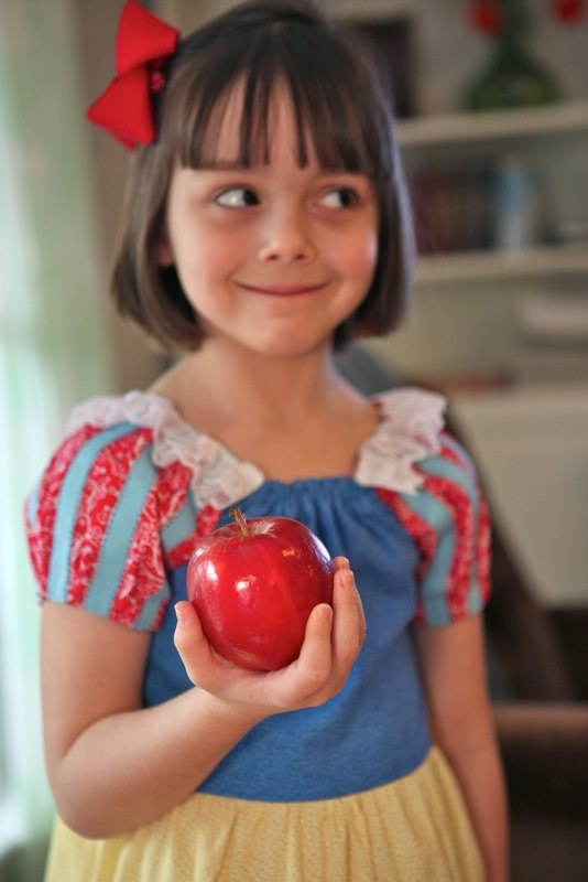Snow White play dress -- Handmade by Adora Belle.  Adora Belle produces little girls clothing that inspires the imagination, projects innocence, and nostalgia.