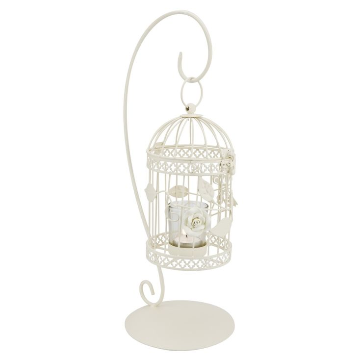 Birdcage Cream Hanging T/light Holder
