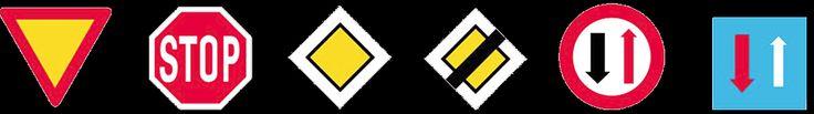 σηματα κοκ - Όλα τα σήματα του ΚΟΚ - Ρυθμιστικές πινακίδες 1