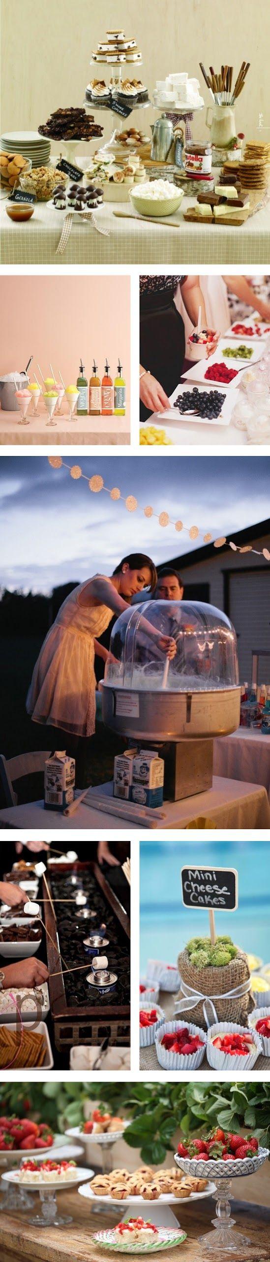 My Wedding Reception Ideas | Blog: Things We Love - Creative Food Stations