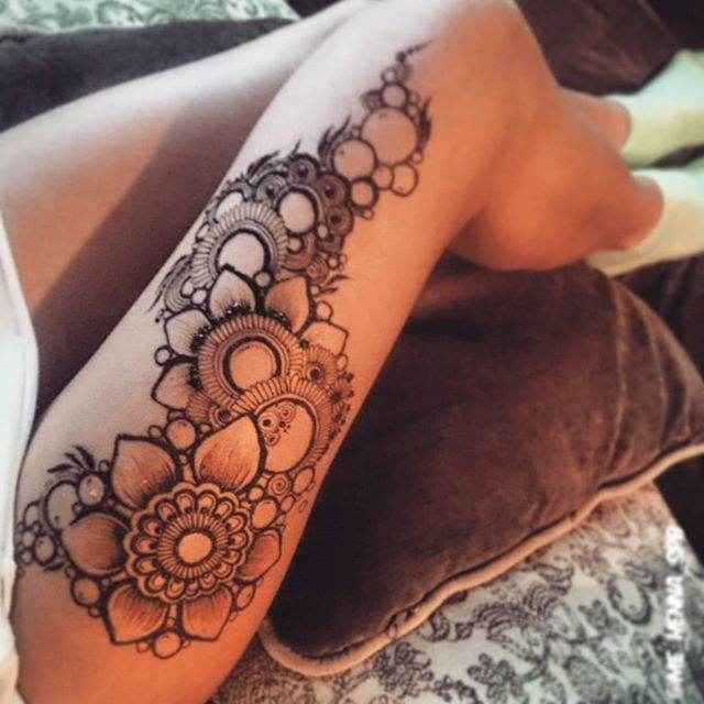 25 best ideas about henna leg tattoo on pinterest for Henna body tattoo