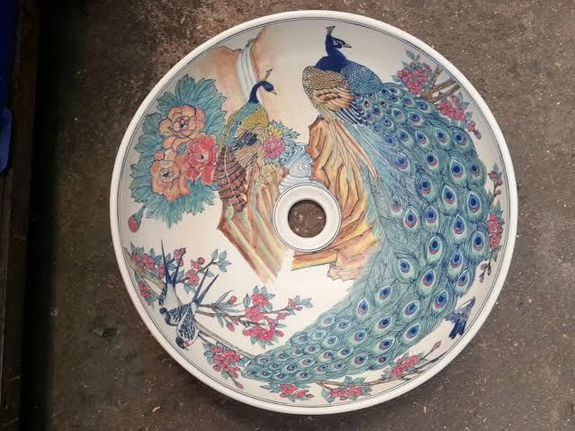 http://ebay.eu/2lbpNWi  Click link to see our products.  FREE WORLD POST.  Hand painted porcelain wash basins.