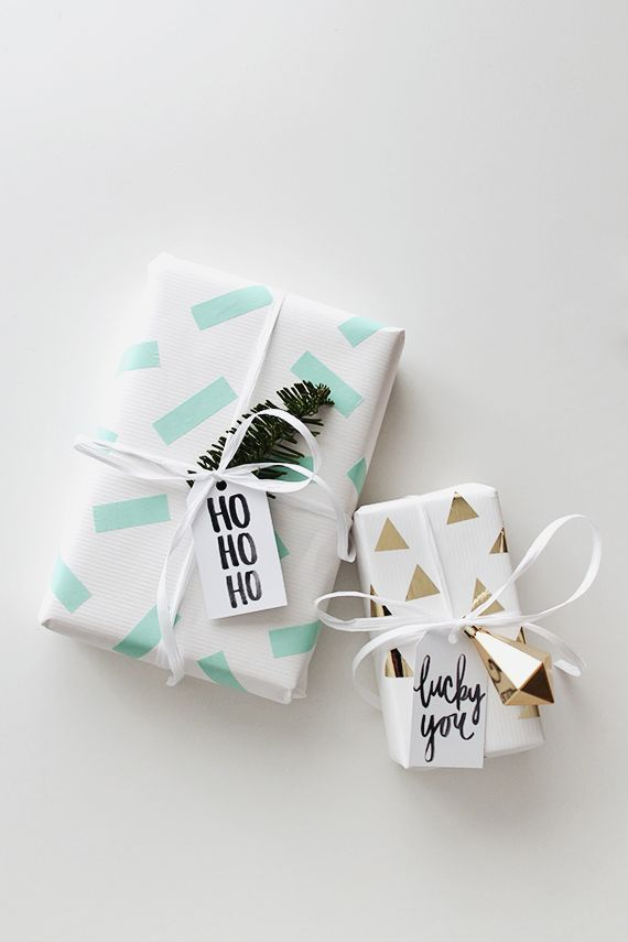 DIY Washi Tape Gift Wrapping