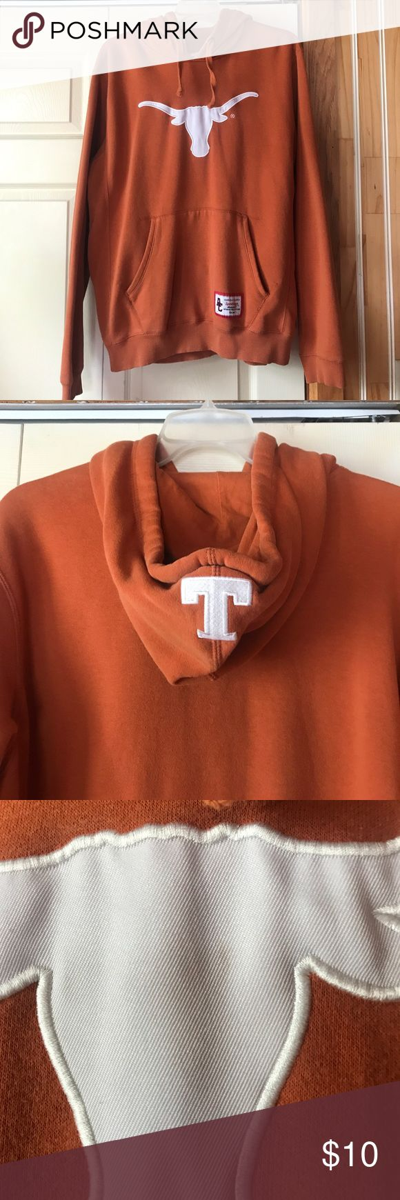 Texas Longhorns Hoody, Men's Size Large Texas Longhorns hoodie, Men's Size Large, Orange, used condition with some flaws (see pictures) still a lot of life left!!! Comes from smoke free home Shirts Sweatshirts & Hoodies