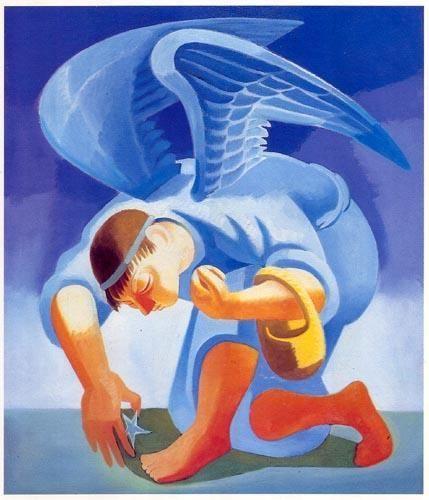 « Anjo »  Óleo sobre tela  1200X890 mm  José de Almada Negreiros (1873 - 1970 )