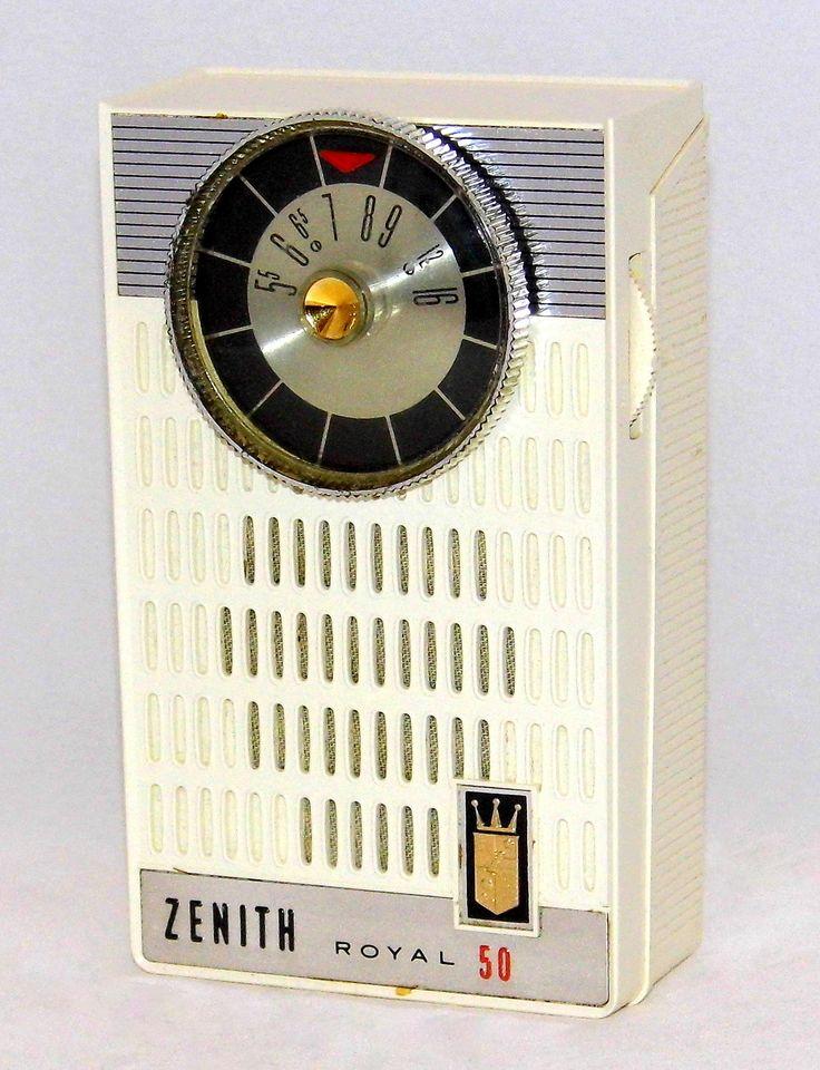 https://flic.kr/p/RnEn7R | Vintage Zenith Royal 50K Transistor Radio, AM Band, Made In USA, Circa 1962