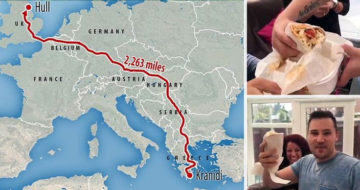 Σουβλάκι ταξίδεψε 3.641 χιλιόμετρα για να φτάσει από την Πελοπόννησο στη Μεγάλη Βρετανία!