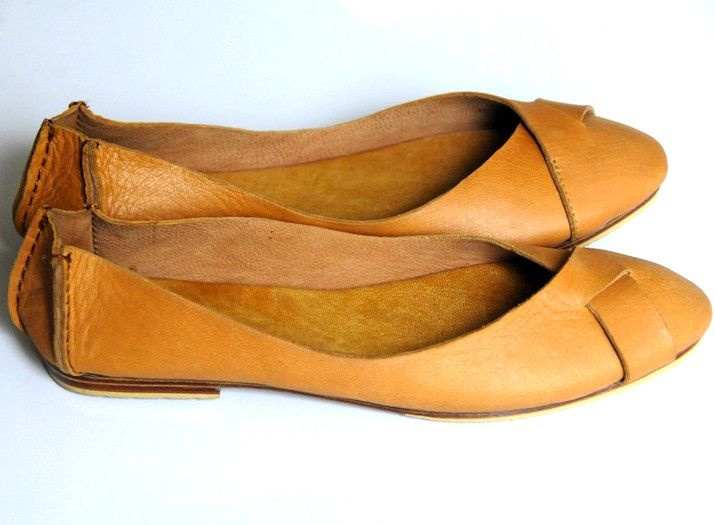 ELF caramel leather flats. I love these. $90