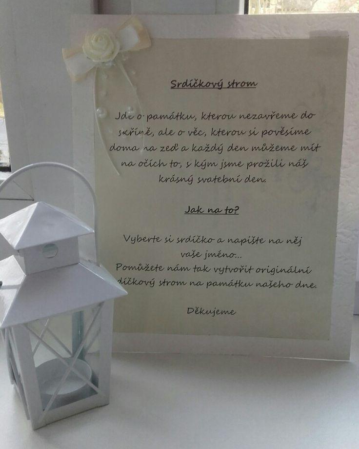 Text ke svatebních srdíčkovému stromu