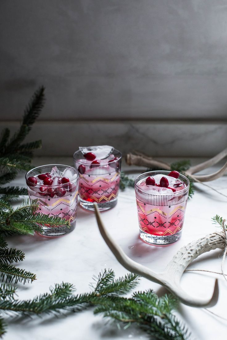 Balsam Gin Sparkler – Citrus Forward Gin , Balsam Syrup (Recipe), Cranberry Juice, Sparkling Water, Frozen Cranberries.