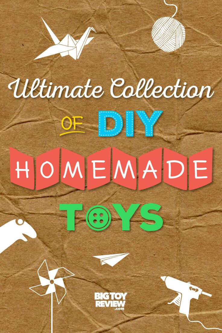 Having fun with your kids doesn't have to cost an arm and a leg. Save money and spark a little ingenuity with this ultimate collection of DIY homemade toys.