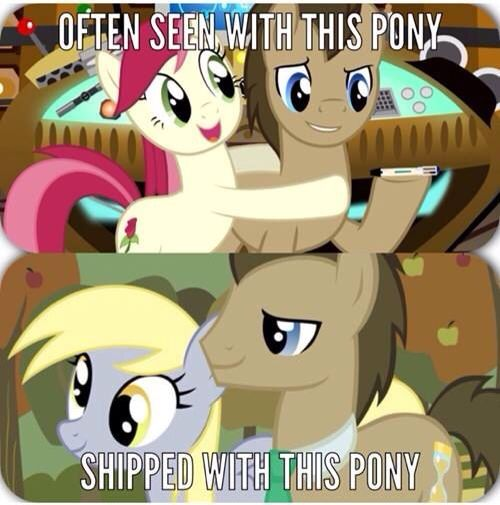 Whooves And Hooves Mlp Dr Derpy Married