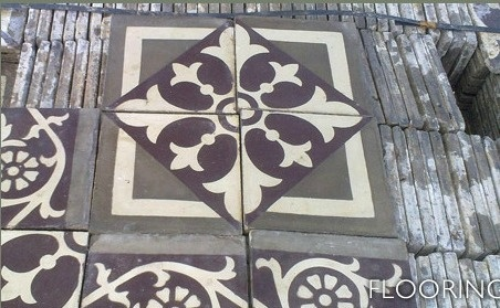 old spanish floor tile