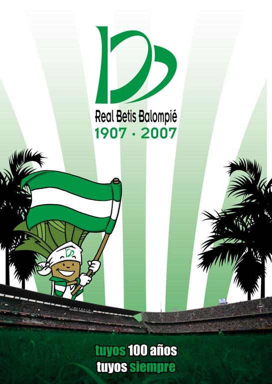Cartel del Centenario del Real Betis Balompié. Más en http://www.lacaseta.com/100-aniversario-real-betis-balompie/ #Betis #ideas #fútbol #creatividad #design #diseno