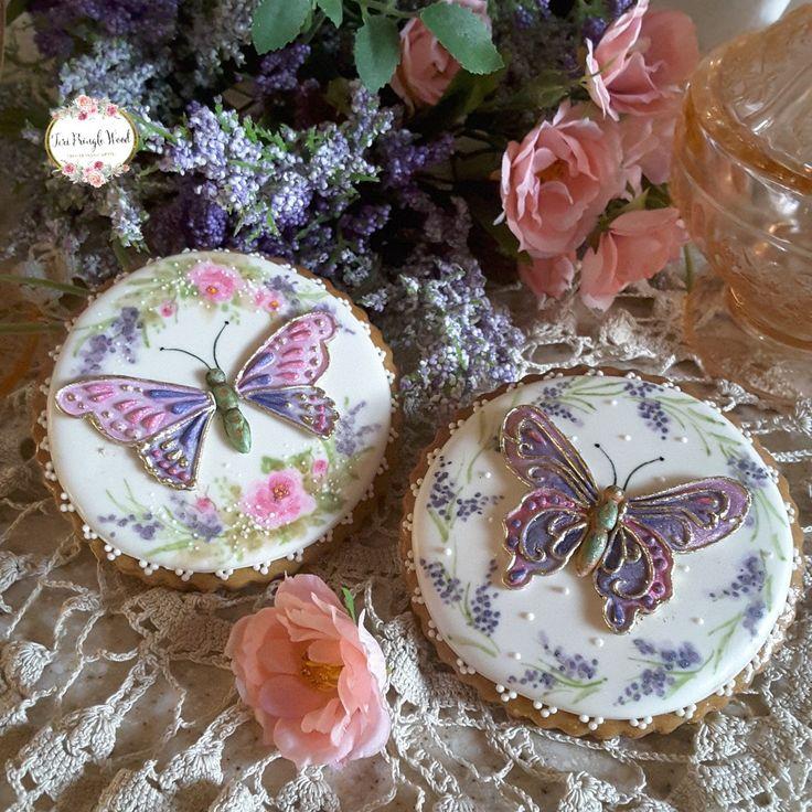 Butterfly cookies,  gingerbread cookies,  keepsake cookie gift,  decorated cookies, butterfly mould from @Katy Sue Designs, handpainted cookies
