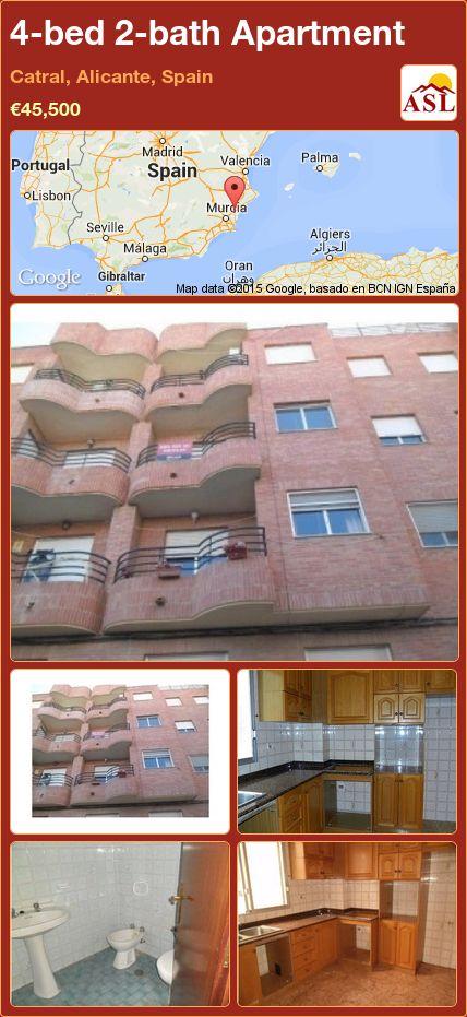 4-bed 2-bath Apartment in Catral, Alicante, Spain ►€45,500 #PropertyForSaleInSpain