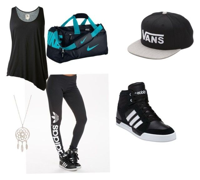 """Trap Queen Matt Steffanina"" by chemicalxpsycho ❤ liked on Polyvore featuring adidas Originals, L'Agence, adidas, Vans and NIKE"