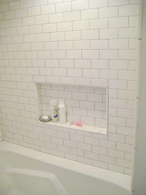 Shower Niche Seems Like Tile Would Get Gross Pretty