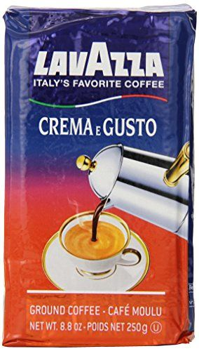 Lavazza Crema e Gusto - Ground Coffee, 8.8-Ounce Bricks (Pack of 4) ** Continue to the product at the image link.-It is an affiliate link to Amazon.