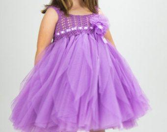 Indigo Blue Empire Waist Baby Tulle Dress with by AylinkaShop