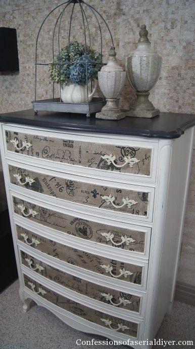 Dresser with Fabric Inlay