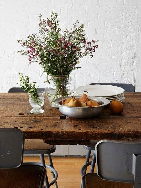 Rustic farm table. The Round Up - Lonny's Top Pins of the Week: March 23, 2015 - Lonny