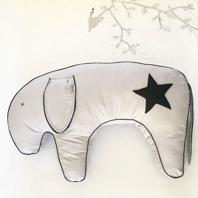 Feeding Donkey...this cushion can be used to support breast feeding, for baby's tummy time and to aid learning to sit. Made from cotton with Felt appliqué.