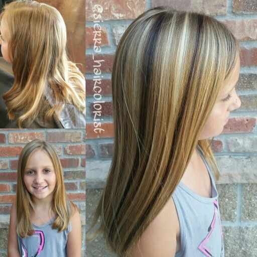 Little Girl Highlights L Anza Haircolor Highlight