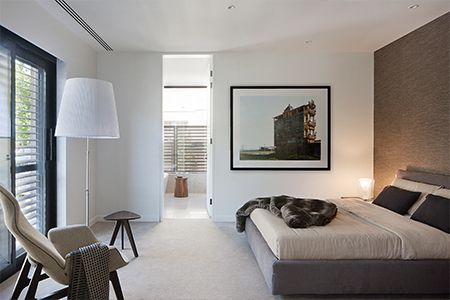 Situated in Melbourne's Royal Botanic Garden precinct, this luxury apartment development is by Hudson Conway, with architecture by Allan Powell and interiors by Lombard & Jack. Each residences features Poliform wardrobes and dressing rooms.  Photography by Shannon McGrath.