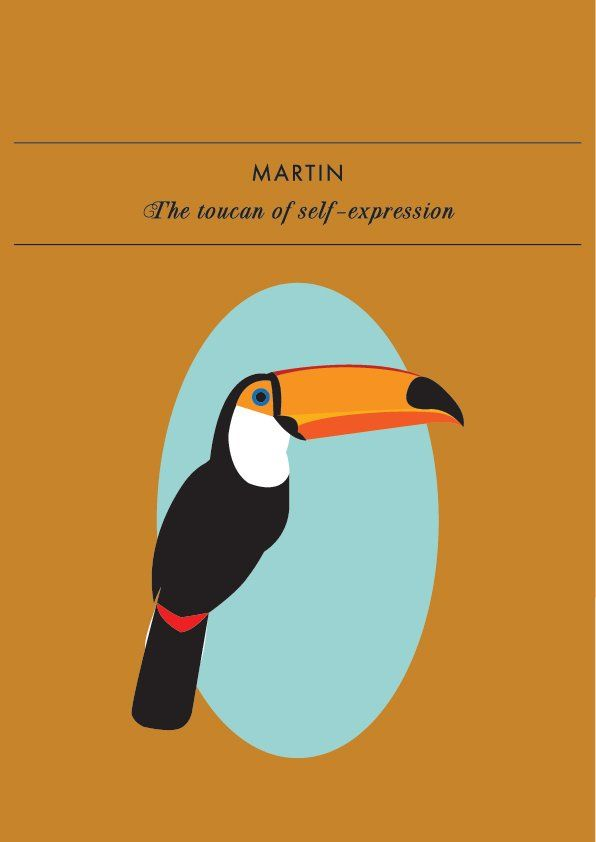 MARTIN THE TOUCAN OF SELF-EXPRESSIONMartin will not be silenced or censored! And why should he be