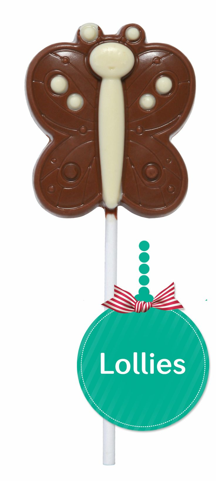 #Chocolate Butterfly Lolly  A reminder that Spring will come!