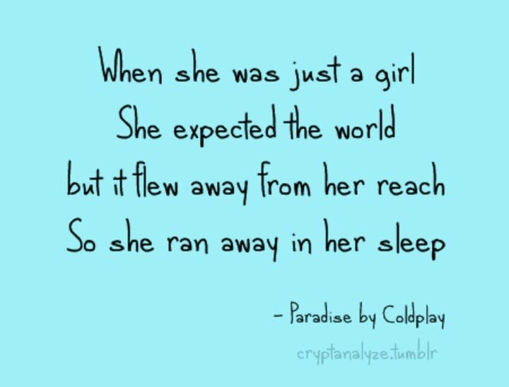 Coldplay Lyrics Paradise