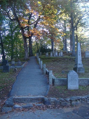 Visiting Sleepy Hollow in Concord, Massachusetts... again.