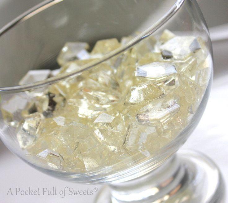125 CLEAR Edible Sugar Candy Gems Diamonds Jewels Barley Sugar Bite Sized Hard Candy Cake Decor Cupcake Jewels Diamonds by APocketFullofSweets on Etsy https://www.etsy.com/listing/150243824/125-clear-edible-sugar-candy-gems