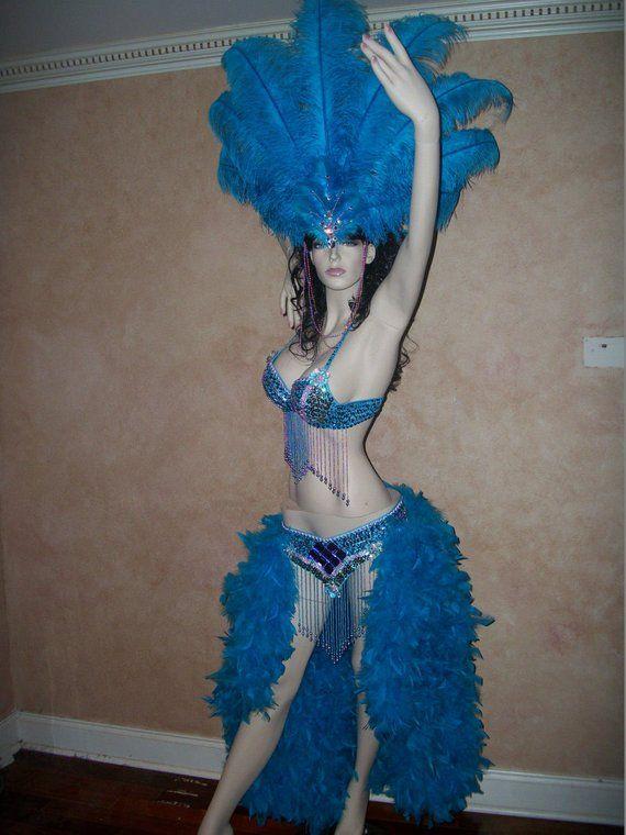 Show Girl Las Vegas Notting Hill Pride Parade Brazilian Carnaval ORANGE Feather Collar-Samba Costumes Carnival-Mardi Gras BM-FC-Or