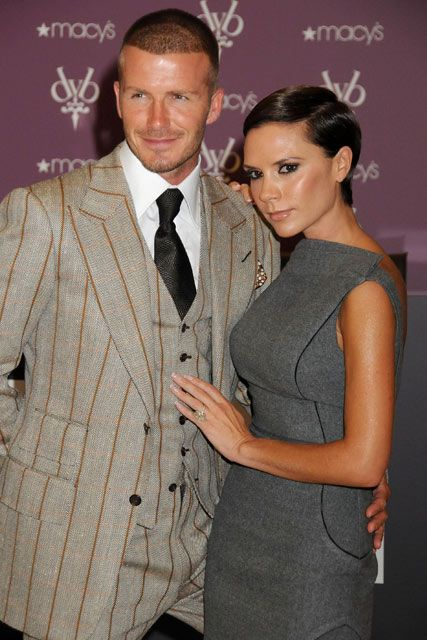 Marie Claire celebrity pictures: David and Victoria Beckham, Signature fragrance launch at Macy's in New York