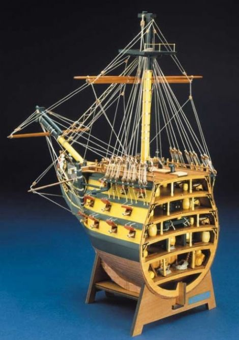 Ship Model Mantua - HMS Victory - Bow Section Deluxe
