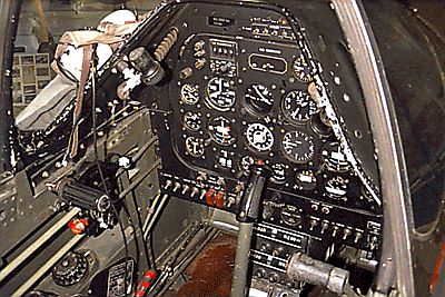 P-51 D Mustang Cockpit   Click for view of P-51 cockpit ...