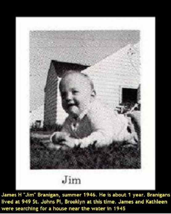 """James """"Jim"""" Branigan 1946. He was born in 1945."""